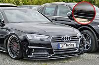 Spoilerschwert Frontspoiler Lippe ABS Audi A4 S4 B9 S-Line ABE schwarz glänzend