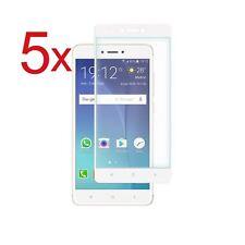 5x Pellicola Vetro Temperato Per Xiaomi Redmi Note 4X Bianco 100% Completo New