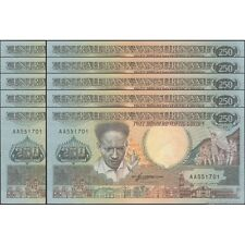 TWN - SURINAME 134 - 250 Gulden 9/1/1988 UNC Prefix AA DEALERS x 10