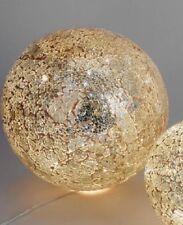 655561 Formano Mosaikkugel Mosaik Kugel 15cm Gold Licht mit Lichterkette