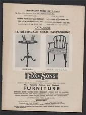 Eastbourne. 18 Silverdale Road 1951 auction sale Furniture China  Paintings bd12