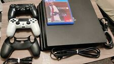Sony PlayStation 4 Pro 1TB 4K Console - Jet Black 2 Controllers 1 Sleeve, 1 Game