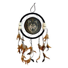 "Wolf Pentacle Dream Catcher by Lisa Parker Gothic Wicca Pagan w/ Large 13"" Hoop"