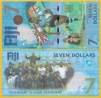 Fiji 7 Dollars p-120 2017 Commemorative UNC Banknote