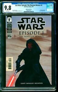 Star Wars Episode I Phantom Menace 3 CGC 9.8 NM/M 1st Darth Maul Photo Variant