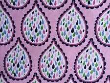 By 1/2 Yard Blend Fabrics True Blue Ana Davis ~ Droplets Pink ~ water ocean sea