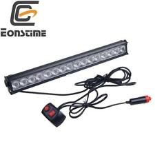 16 LED RED&BLUE Emergency Warning Light Bar Traffic Advisor Strobe Flash Lamp