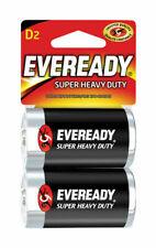 New Eveready Super Heavy Duty D D Size Batteries 2 ea