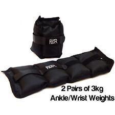 2 paia di 3kg FXR Sports Polso Caviglia Pesi Resistenza Forza Allenamento Palestra