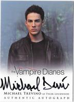 Vampire Diaries 2 Auto Autograph Card Michael Trevino Tyler Lockwood A8