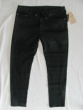True Religion Dean Twisted Jeans-Drawstring-Coated-Night Drifter-Sze 42-NWT $179