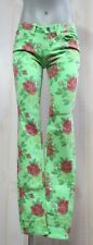 Women US 2 One Green Elephant Kosia Stretch Skinny Jeans Green/Floral inseam-32