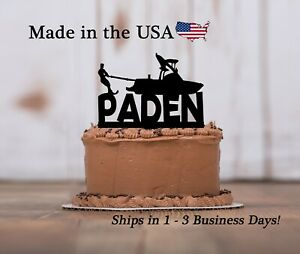 Water Skier Birthday Party, Cake Topper, Boat, Birthday Party Keepsake - LT1327