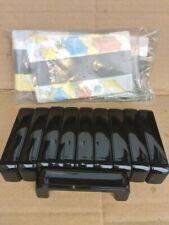 10 X BLACK CUBOARD DOOR HANDLES