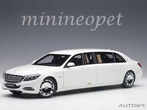 AUTOart 76296 MERCEDES BENZ MAYBACH S 600 PULLMAN LIMO 1/18 MODEL CAR WHITE