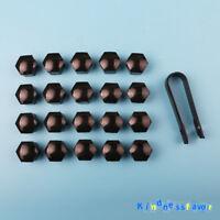 20 Black Wheel Lug Nut Center Cover Cap Removal Tool For VW Audi Skoda BMW Benz