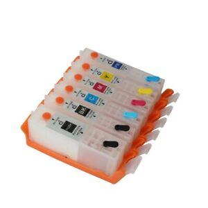 For CANON PIXMA TS8160 TS8260 TS9160 Refillable Ink Cartridge PGI-680 CLI-681