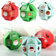 20pcs Christmas Candy Gift Boxes Cookie Dessert Packaging Bag Xmas Party Favors