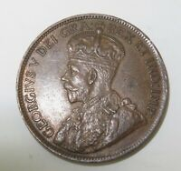.1917 CANADA ONE CENT. SUPERB HIGH GRADE 8 PEARLS & FULL CENTRE CROWN.
