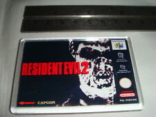 Cubierta de juego de Nintendo 64 FRIDGE MAGNET Resident Evil 2
