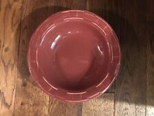 longaberger woven traditions pottery 9� paprika Pasta/Salad Bowl New!