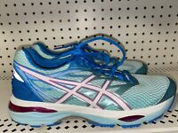 Asics Gel-Cumulus 18 Womens Athletic Running Shoes Size 8.5 D WIDE Blue Pink