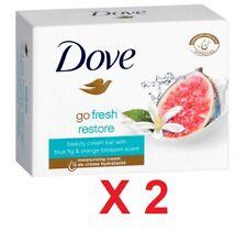 Dove Go Fresh Restore with Blue Fig & Orange Blossom Bar Soap 2 pcs X 100 g