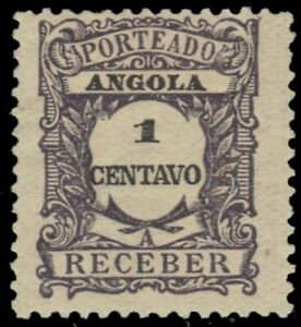 """ANGOLA J22 - Numeral of Value """"Postage Due"""" (pa49342)"""