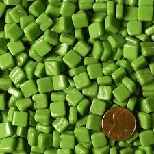 8mm Mosaic Glass Tiles - 2 Ounces About 87 Tiles - Spring Pea Green