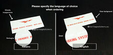 Moto Guzzi V35 V1000 Idro Convert Brake System Sistema frenante sticker decal