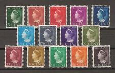 NVPH Netherlands Nederland 332-345 MLH Koningin Wilhelmina 1940 Pays Bas NO GUM