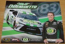 2016 Matt DiBenedetto Dustless Blasting Toyota Camry NASCAR Sprint Cup postcard