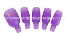 5 PCS Toe Nail Art Soak Off Clip Cap UV Gel Polish Remover Wrap Manicure Tools
