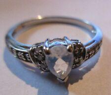 Goldring, Ring, Weißgold, Regenbogen-Mondstein, Diamanten