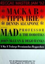 REGGAE MASTER JAM - 1992 - Tourplakat - Macka B - Tippa Irie - Mad Professor