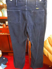 36x30 FIT True Vtg 70s Bootcut WRANGLER NAVY BLUE Hippy Cords Mens Jeans