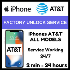FACTORY UNLOCK SERVICE AT&T CODE ATT for IPhone 4 5 5S 6 6s SE 7 8 X