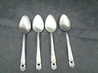 """1847 Rogers Bros 1947 """" ETERNALLY YOURS """" 4 Teaspoons Vintage 6 1/4"""" Spoons"""