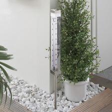 Solar Thermometer Gartenthermometer beleuchtet Solarlampe Edelstahl SO34 B-Ware