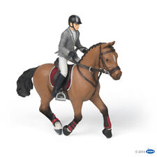 NEW PAPO 51561 Competition Horse with Rider Figurine Set