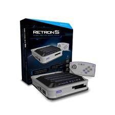 Hyperkin RetroN 5 sistema de videojuegos retro (5 en 1 juegos de bonificación) con 2000 Gris