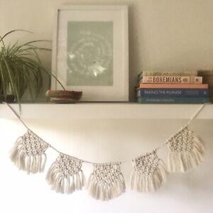 Wyld & Grace Boho Macrame Bunting. Wall Hanging. Natural Organic Cotton