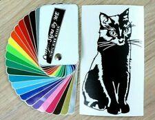 Cat Wall Sticker Vinyl Decal Adhesive Window Car Bumper Tailgate Laptop Black #1