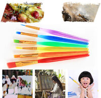 6 pc Colorful Kids Paint Brush Set Artist Drawing Watercolor Oil Acrylic Brushes