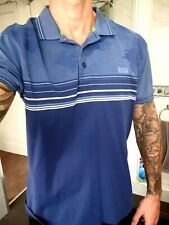 Hugo Boss Polo Shirt T Navy Blue White XXL Used Excellent Cond - WAS £120