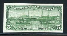 Argentina Rosario Port Specialized: Scott #143 5c Green PROOF GALZED $$$