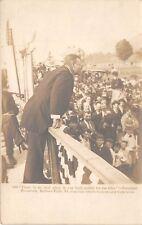BELLOWS FALLS, VT, PRES TEDDY ROOSEVELT GIVING 1902 SPEECH, UNDERWOOD RPPC