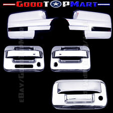 For Ford F150 2009-2014 Chrome Covers Set Full Mirrors SIGNAL+2 Doors+Tailgate K