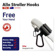 Oliby Universal Stroller Pram Hooks - 2 pcs Shopping Bag Clip Carrier Pushchair