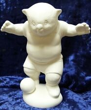 "Ready to Paint Ceramic Bisque ""Occer"" Soccer playing Wombat"